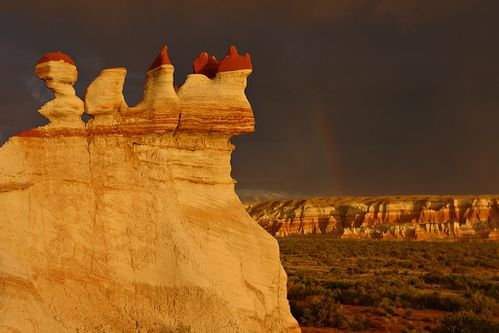 Hoodoos and dark sky