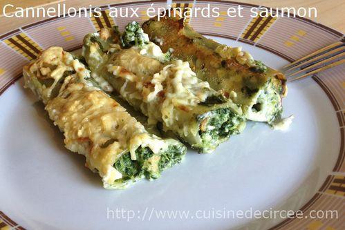 Cannelloni au saumon et pinards - Cuisine italienne cannelloni ...