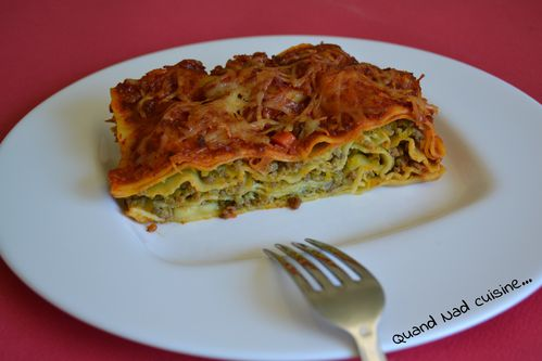 lasagnes viande-courgettes