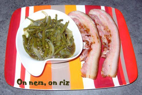 Haricots verts au jus & poitrine1