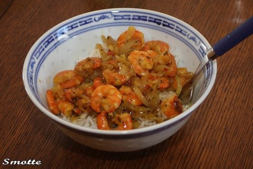 Crevettes sauce chinoise