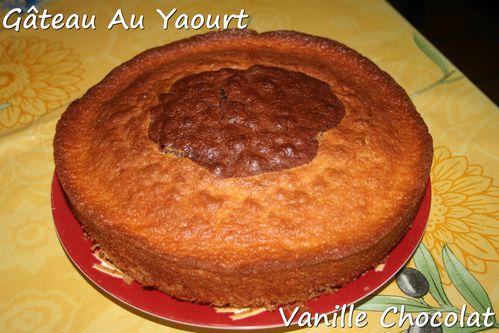gateau au yaourt vanille chocolat1