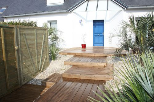 am nagement de jardin terrasse bois pierres paysagiste arradon vannes auray baden trinit. Black Bedroom Furniture Sets. Home Design Ideas
