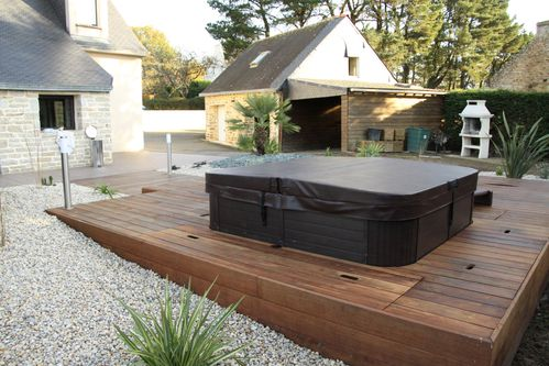am nagement de jardin spa et terrasse en bois exotiques vannes morbihan arbor mineral. Black Bedroom Furniture Sets. Home Design Ideas