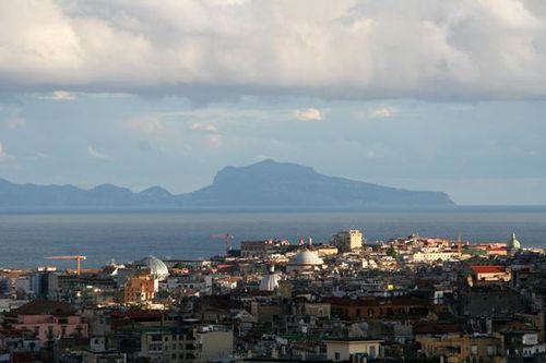 500h Vue sur Naples, de Capodimonte