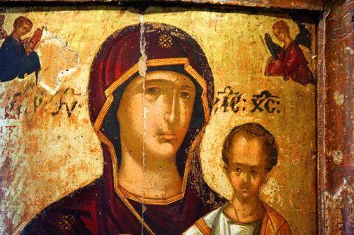621i1 Tarente, musée archéol., icône byzantine, 13e siè