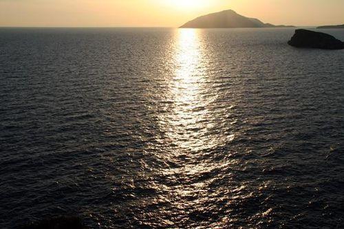 687g1 Coucher de soleil au Cap Sounion