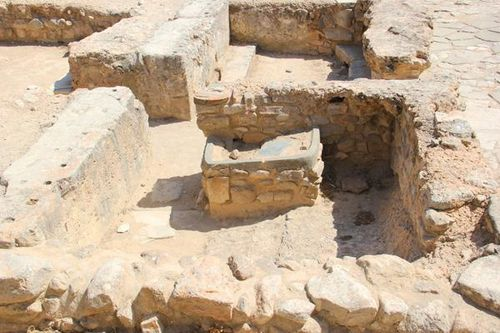 732g1 Palais de Phaistos, autel de sacrifices