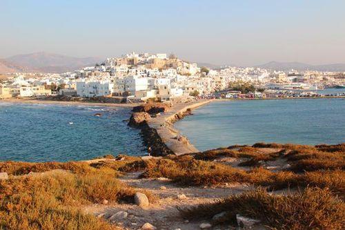 754d1 la ville de Naxos vue du temple d'Apollon