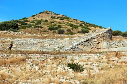 764c1 Théâtre de Thorikos à Lavrio, sud de l'Attique