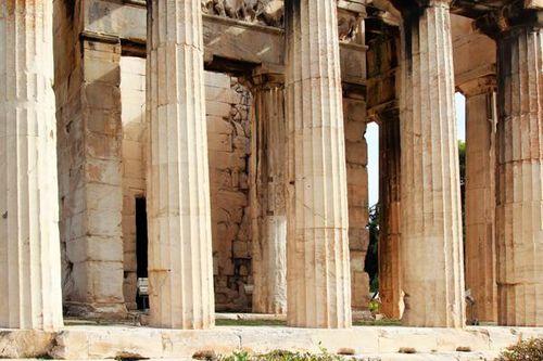 766f5d Athènes, agora, temple d'Héphaistos