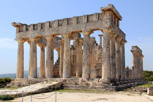 802d2 Le temple d'Aphéa à Egine