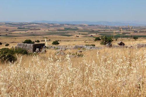 807b3 ruines de Platées et plaine de la bataille