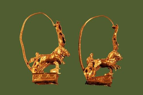 812e2 boucles d'oreilles hellénistiques en or