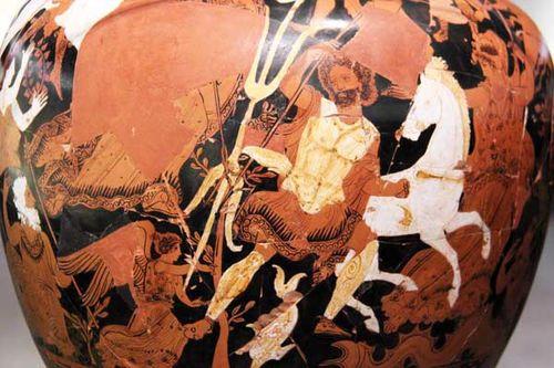 829g2 Poséidon propose un cheval à Athènes
