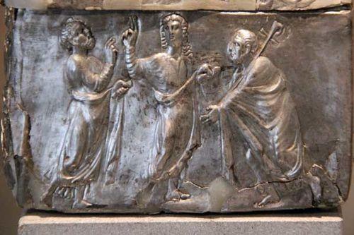 832e1a reliquaire en argent, fin 4e siècle