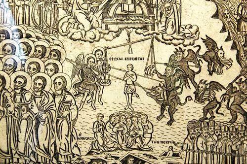 832j Gravure du Jugement Dernier, milieu 19e siècle