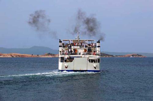 838a5 Ouranoupoli, départ vers le Mont Athos