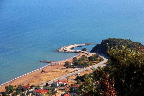 839c Stratoni, sur la côte est de Chalcidique