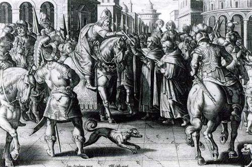851a3 J. Stradan (1580), apport des oeufs de bombyx