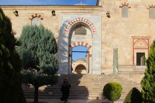 856b1 Edirne, l'entrée de la mosquée aux Trois Balcons