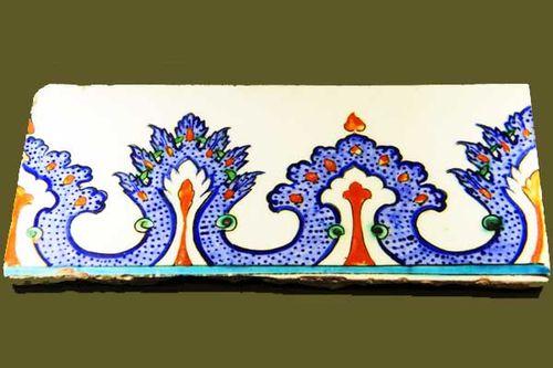 858d1 céramique ottomane, musée islamique d'Edirne