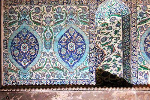 870f7 céramique d'Iznik à Ste-Sophie d'Istanbul