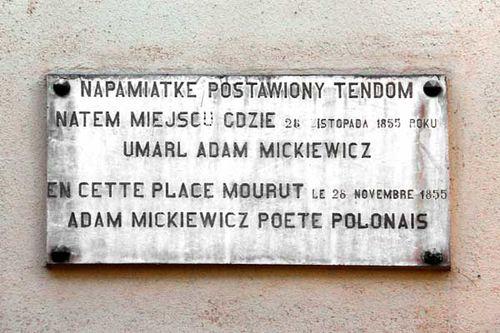 878c3 Mickiewicz mort à Constantinople 10 rue Tatlı Badem