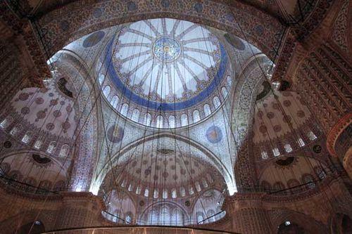 880d1 coupole de la Mosquée Bleue
