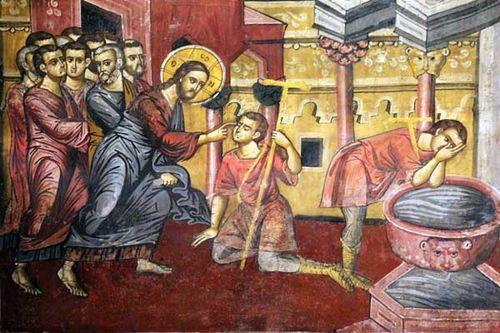 905e2 Arta, église Ste Theodora, miracle de l'aveugle né