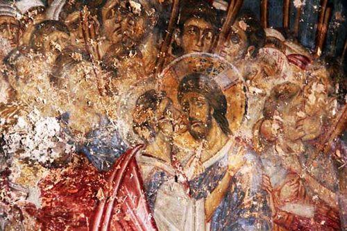 906f2 Arta, Vlacherna, fresque baiser de Judas