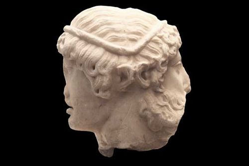 924b2 double face, Eros jeune et Dionysos barbu