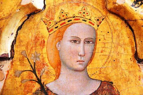 924e3 Ste Catherine (polyptyque vers 1350, Rimini)