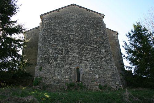 Le chevet roman de l'église