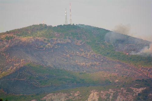 Mont Filfila en flamme