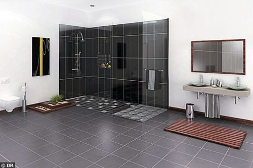 id es pour la douche italienne construction avec maisonneuve. Black Bedroom Furniture Sets. Home Design Ideas