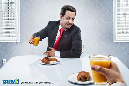 publicité tarwij Sarkozy