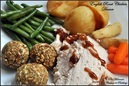 english roast chicken dinner