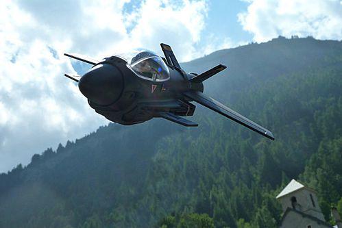 playmobil avion de chasse