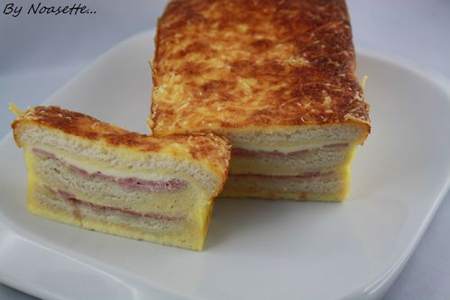 croque monsieur fa on cake recettes a gogo. Black Bedroom Furniture Sets. Home Design Ideas