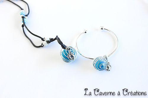 parure-bracelet-bola-cage-bleu
