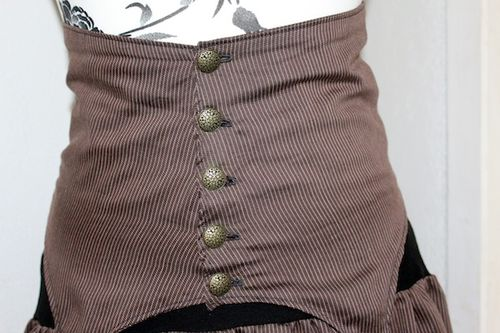 jupe+serre taille steampunk femme 1