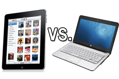 ipad contre PC ordinateur portable