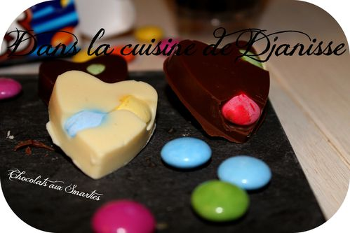 Chocolats aux smarties