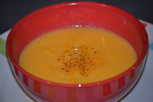 Veloute patate douce fenouil