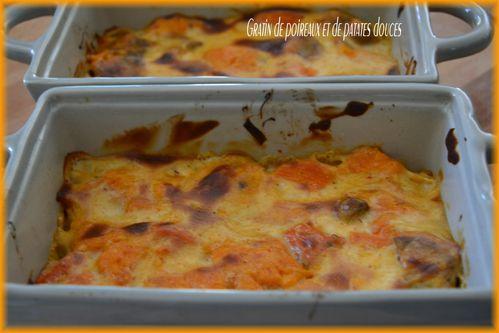 gratin poireaux et patates douces