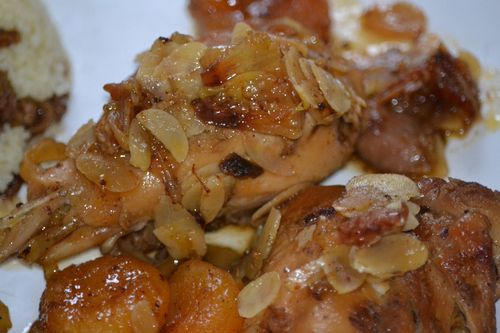 Tajine poulet abricots 1