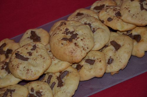 Cookies pomme choco 1