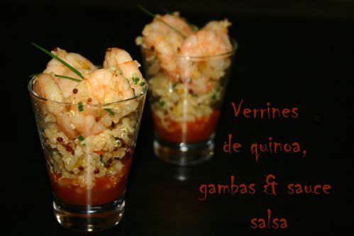 verrine quinoa gambas