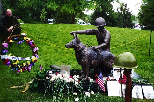 WAR DOG MEMORIAL, VILLAGE OF STREAMWOOD,ILL.